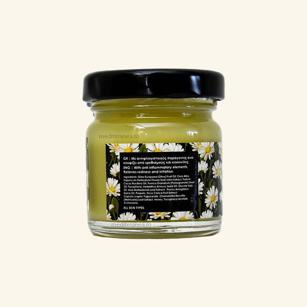 Crema cu ulei de sunatoare, ceara de albine, musetel si propolis