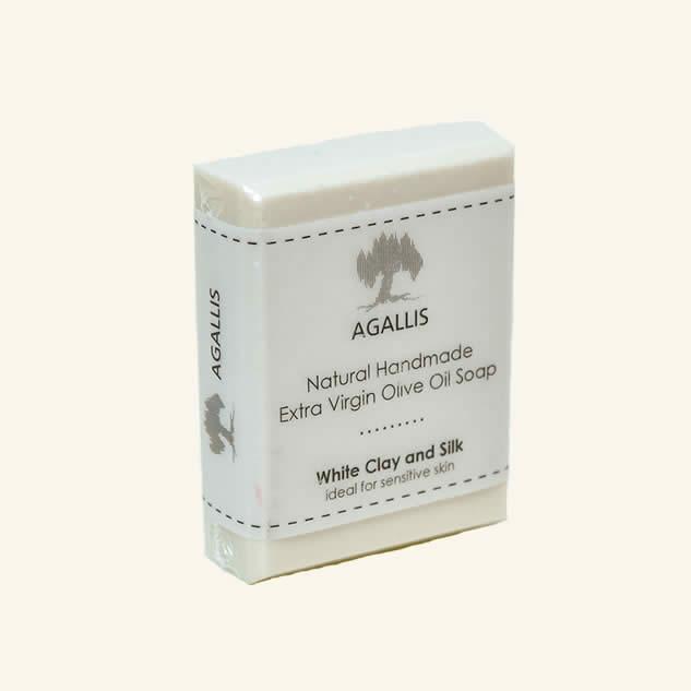 Sapun cu argila alba pentru piele sensibila