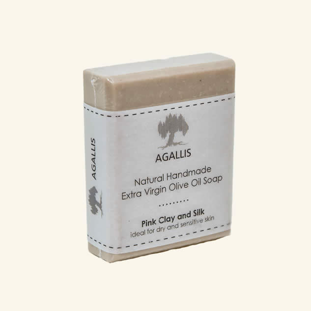 Sapun cu argila roz pentru piele uscata si sensibila