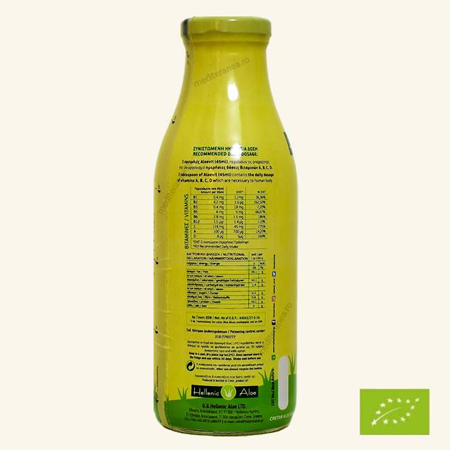 suc de aloe vera cu portocale bio
