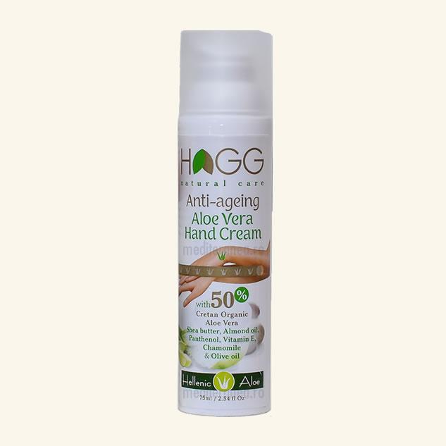Crema anti-aging pentru maini cu 50% Aloe Vera Organica