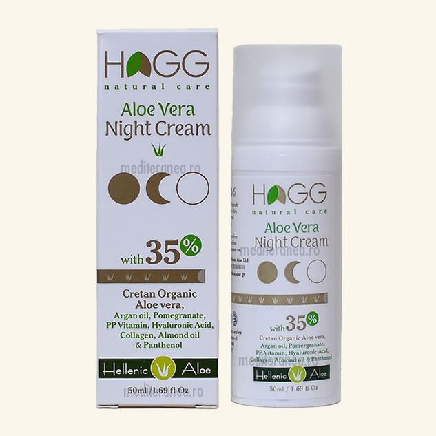 Crema de noapte cu 35% aloe vera organica