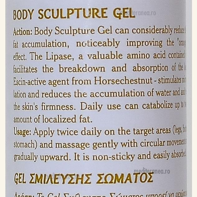 Gel pentru remodelare corporala cu Aloe Vera Organica