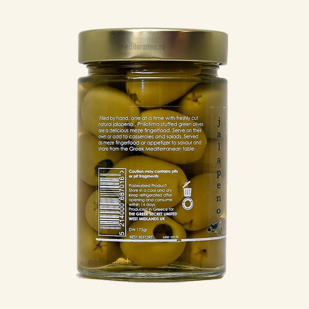 Masline verzi umplute cu ardei jalapeno