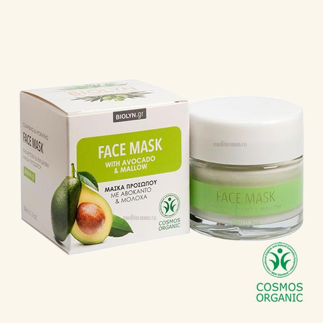 Masca faciala organica cu avocado & nalba de padure