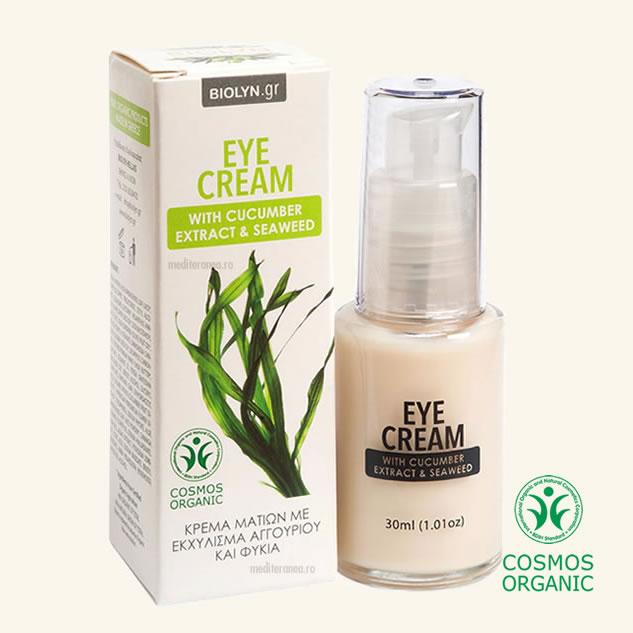 Crema pentru ochi cu extract de castravete & alge marine