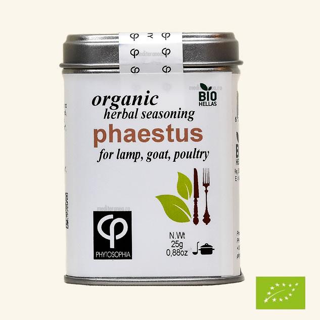 Phaestus - Mix de plante BIO - pentru prepararea carnii de miel, capra, pasare de curte