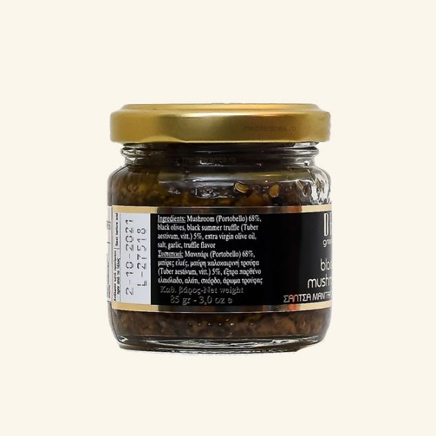 Salsa tartufata cu trufe negre, masline si ciuperci