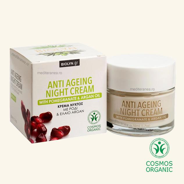 Crema de noapte anti-imbatranire cu rodie & ulei de argan