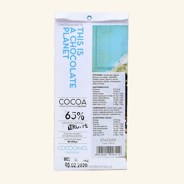 Ciocolata cu trufe 65% cacao