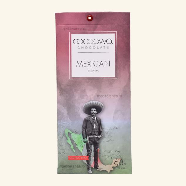 Ciocolata cu piper mexican 63% cacao