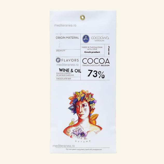 Ciocolata cu vin & ulei 73% cacao