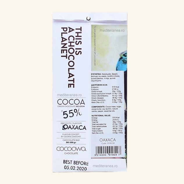 Ciocolata oaxaca si 55% cacao