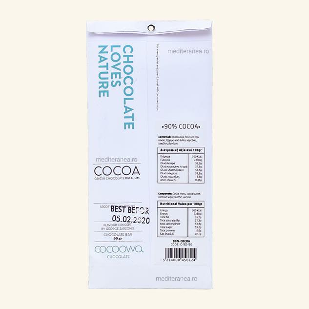 Ciocolata vegana 90% cacao