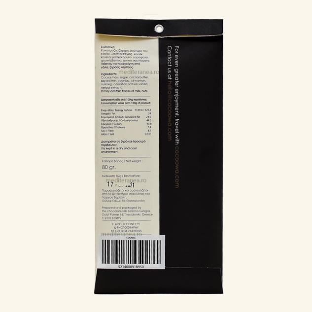 Ciocolata cu cognac 65% cacao