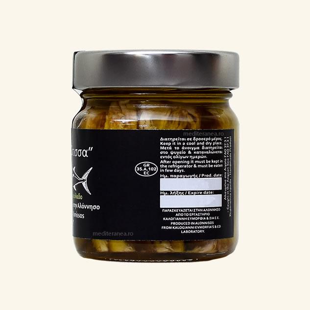 Ton alb in ulei de masline extravirgin 212g