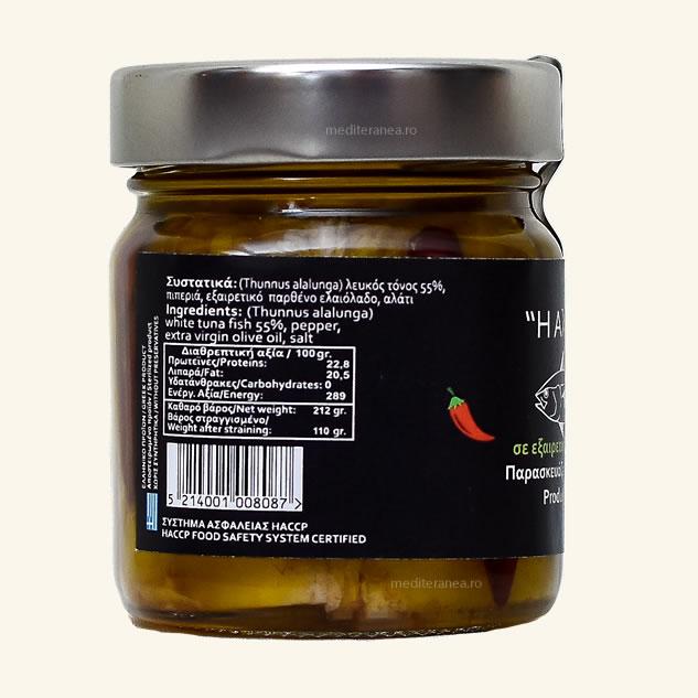 Ton alb in ulei de masline extravirgin iute 212g