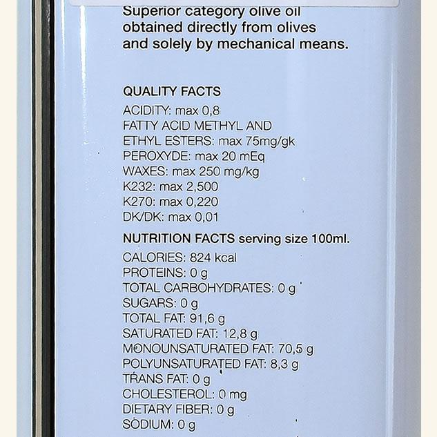 Ulei de masline extravirgin din soiul Koroneiki 5L