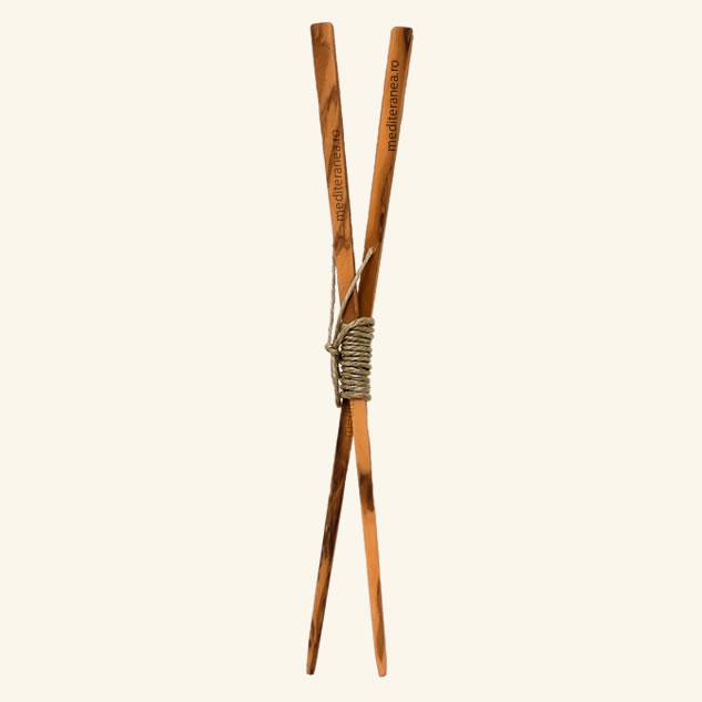 Bete chopsticks din lemn natural de maslin