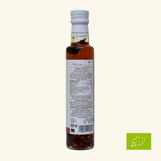 Ulei de masline extravirgin cu chili BIO