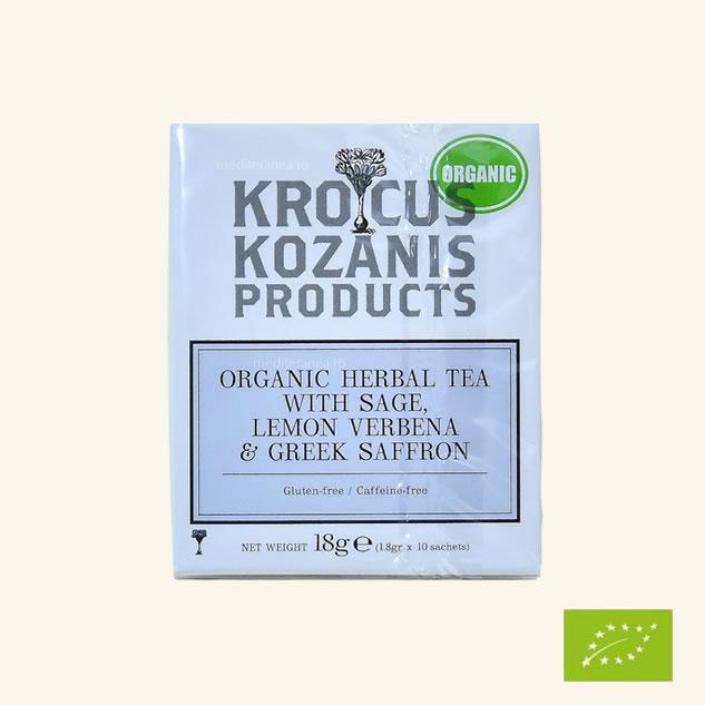 Ceai din plante cu salvie, verbena & șofran grecesc BIO