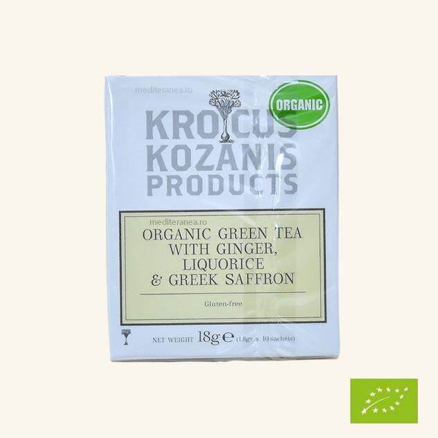 Ceai din plante cu ghimbir, lemn dulce & sofran grecesc BIO