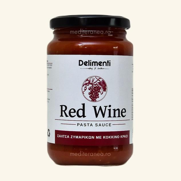 Sos cu vin rosu pentru paste