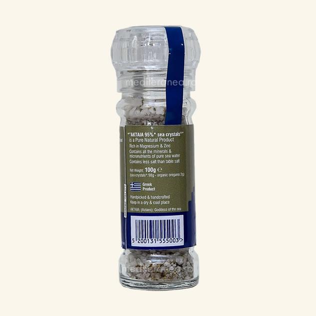 Cristale de sare din Marea Egee cu oregano organic