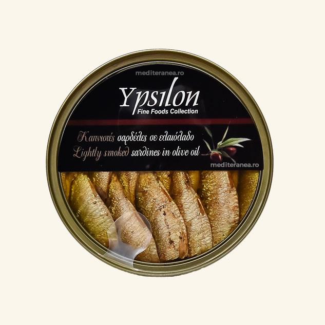 Sardine usor afumate in ulei de masline