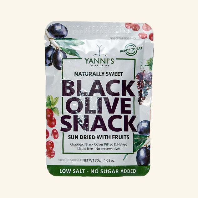 Snack masline negre uscate cu fructe
